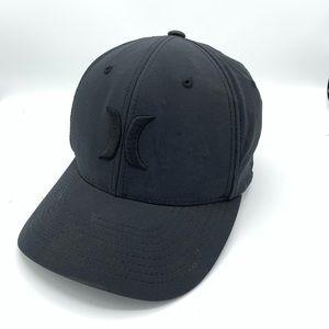 Hurley Sm Md Black Flex Fit Baseball Cap Hat